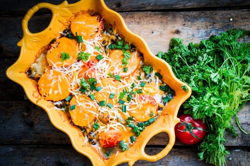 Gratinirani krumpir s paprikom